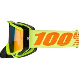 100% Racecraft Anti Fog Mirror Goggles attack yellow